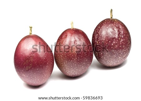 Whole Organic Passion Fruit - stock photo