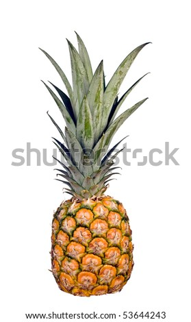 Whole pineapple isolated on a white background