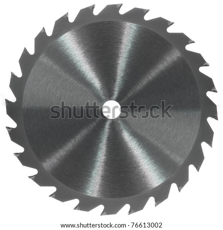 Whole saw blade - stock photo