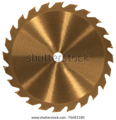 Whole saw blade - Gold/Bronze - stock photo