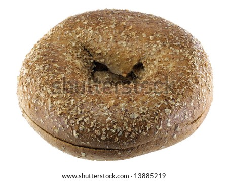 Whole Wheat Bagel - stock photo