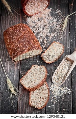 Whole wheat bread - stock photo