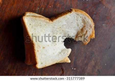 Whole wheat bread is healthy. And is popular consumption - stock photo