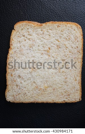 Whole wheat bread isolated