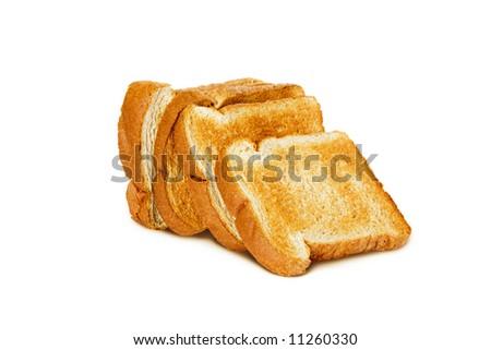 Whole wheat bread toast - stock photo