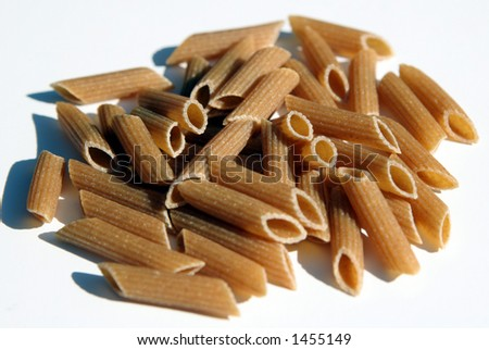 Whole wheat organic pasta. - stock photo