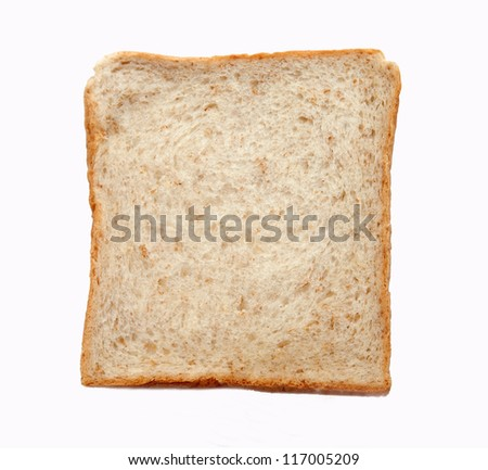 Whole wheat toast on white