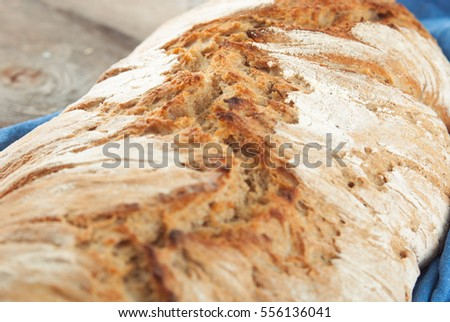 wholegrain fresh bread