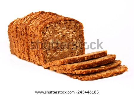 wholemeal bread - stock photo