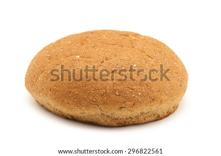 wholemeal breads isolated on white background