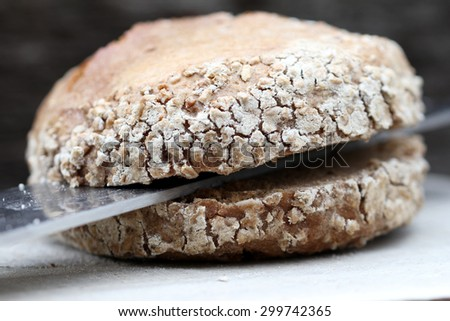 wholemeal rolls - stock photo