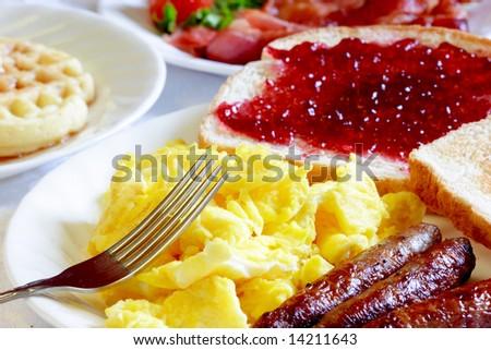 wholesome breakfast - stock photo