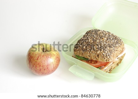 Wholesome lunchtime food - stock photo