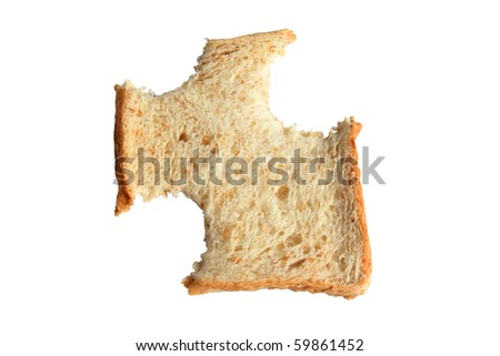 wholewheat sliced bread - stock photo
