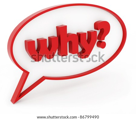 why? - stock photo