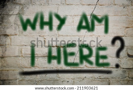 Why Am I Here Concept - stock photo