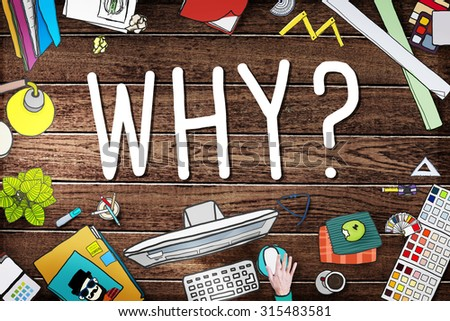 Why Question Reason Curious Confuse Concept - stock photo