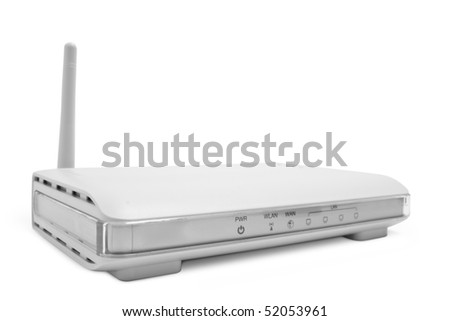 wi fi an adapter is isolated on a white background