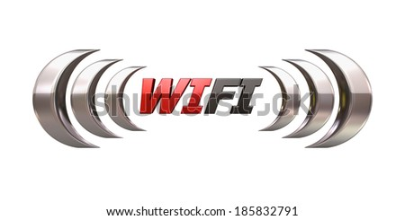 Wi fi icon - stock photo