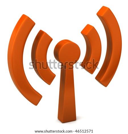 wi-fi icon - stock photo