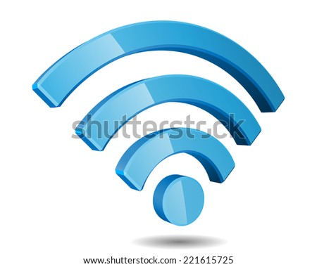 Wi Fi Wireless Network Symbol Illustration - stock photo