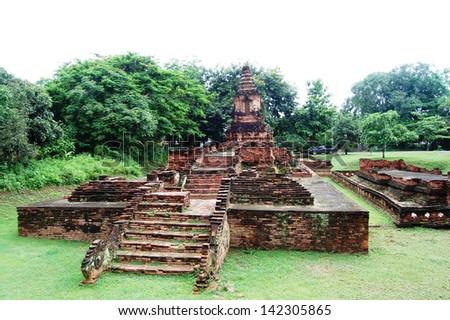 Wiang Kum Kam ancient at chiangmai of thailand - stock photo