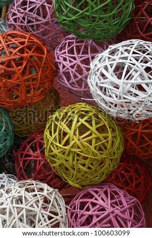 Wicker balls - stock photo
