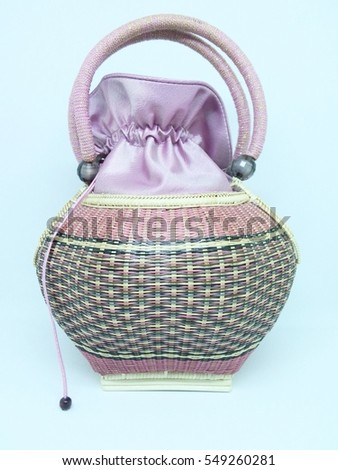 Wicker bamboo bag for sale, Thailand traditional bag