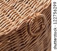 Wicker basket close-up photo with shallow depth of field - stock photo