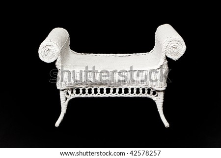Wicker Bench - stock photo