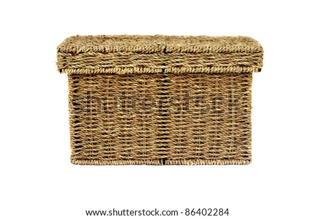 Wicker Box - stock photo
