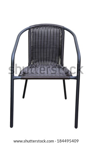 Wicker brown chair isolated on White Background - stock photo