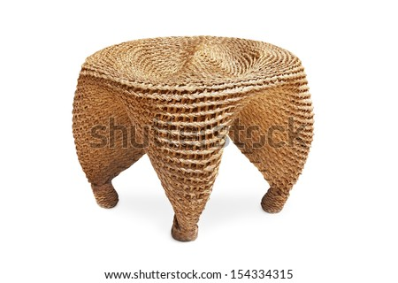 Wicker chair - stock photo