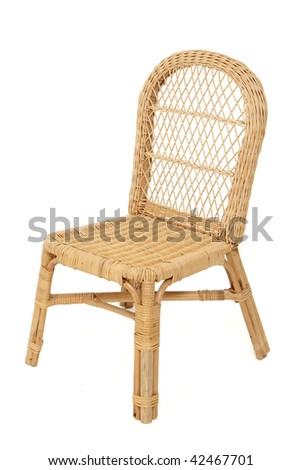 Wicker Chair - stock photo
