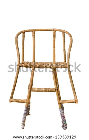 Wicker chair for a small child.