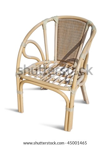 wicker chair. Isolated on white with clipping path
