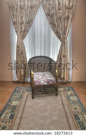 Wicker furniture - stock photo