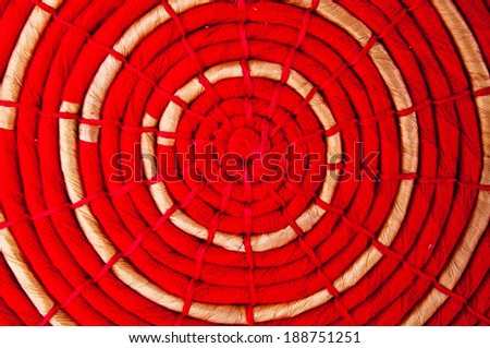 Wicker Handmade Design Craft Woven and Fabric Placemat for background wallpaper and texture. - stock photo
