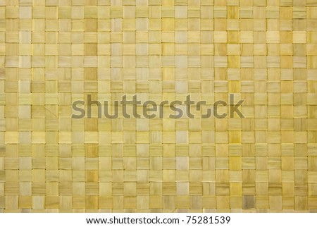 Wicker or rattan or bamboo material background - stock photo