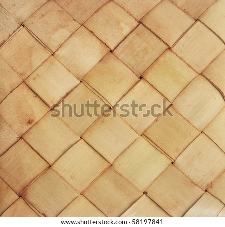 Wicker or rattan or nature material - stock photo