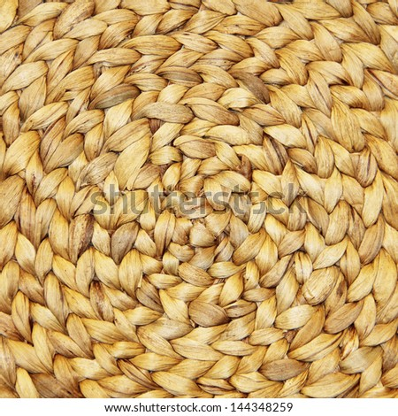 Wicker Placemat - stock photo