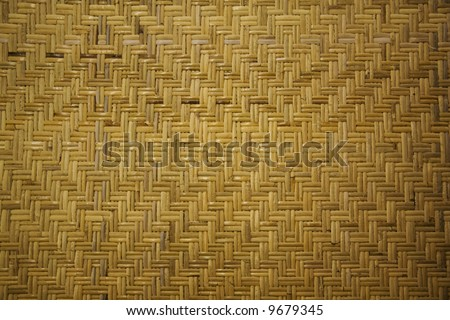 Wicker portion of a piece of furniture...great background - stock photo
