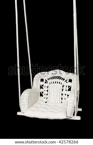 Wicker Swing - stock photo