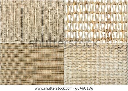 Wicker texture set - stock photo