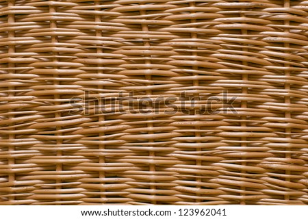 wicker wood texture - stock photo