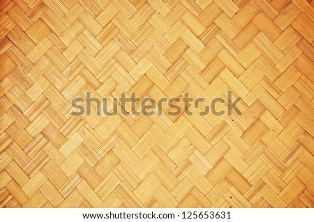 Wicker wood texture background - stock photo