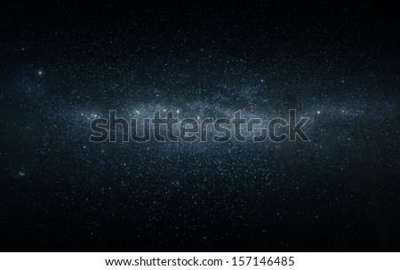 Wide angel photo of the milky way star field - stock photo