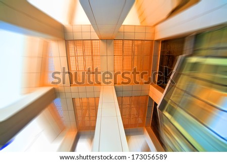 Wide angle construction. Abstract architecture background - stock photo