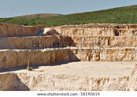 Wide angle view of traditional quarry - stock photo
