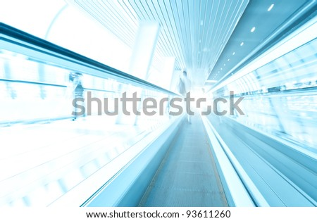 wide angle view to passenger transport - stock photo